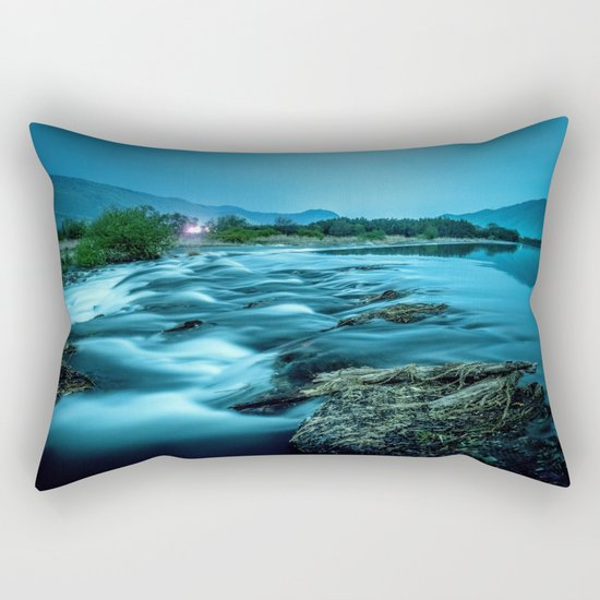 tranquil waterfall Rectangular Pillow