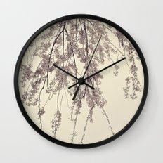 Raintree 2 Lavender pink flower blossoms Wall Clock