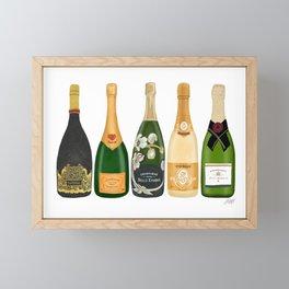 Champagne Bottles Framed Mini Art Print