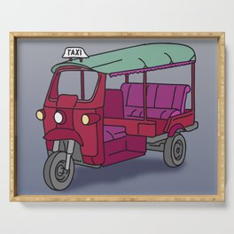 Red tuktuk / autorickshaw Serving Tray