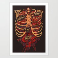 study Art Prints featuring Anatomical Study - Day of the Dead Style by Steve Simpson