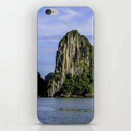 Beautiful Limestone Cliffs Covered in Green Trees and Bushes Rising up from Halong Bay, Vietnam iPhone Skin