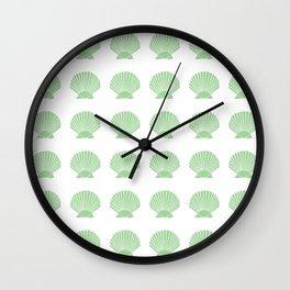 Mint Seashell Wall Clock