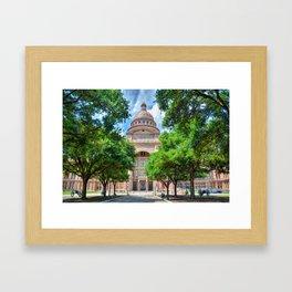 Texas State Capital Framed Art Print