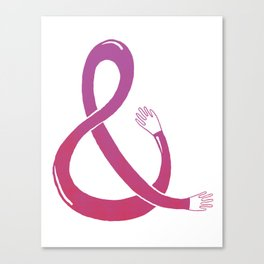 Handpersand - Pink and Red Canvas Print