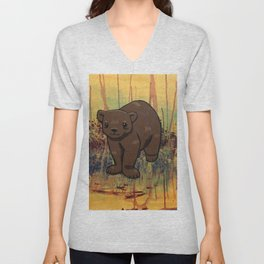 Bear Cub Unisex V-Neck