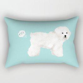 Bichon Frise dog breed funny dog fart Rectangular Pillow