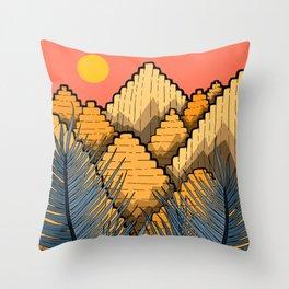 Pyramid Mountains Throw Pillow