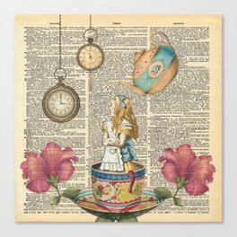 It's Always Tea Time - Alice In Wonderland Canvas Print