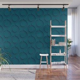 Tropical Dark Teal Inspired by Sherwin Williams 2020 Trending Color Oceanside SW6496 Minimal Circle Pattern Wall Mural