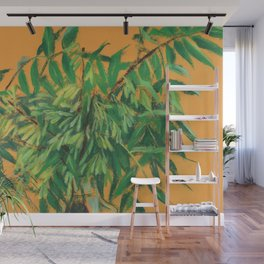 Ash Tree, green and yellow Wall Mural