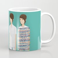 tegan and sara Mugs featuring Tegan and Sara: Call It Off by Cas.