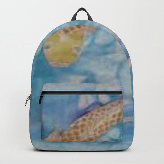 Koi Pond Batik Backpack