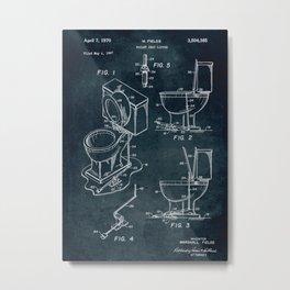 1967 - Toilet seat lifter patent art Metal Print