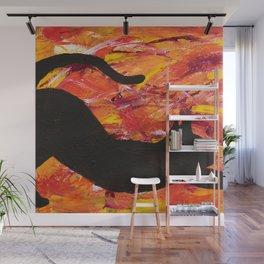 Cat Stretch Wall Mural