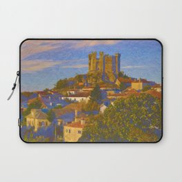 Medieval castle and town in Portugal Laptop Sleeve