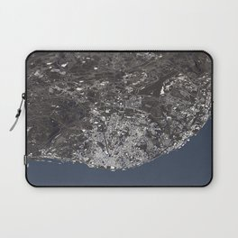 Lisbon City Map II Laptop Sleeve