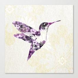 Purple Hummingbird Art Canvas Print
