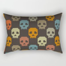 Knitted skull pattern - colorful Rectangular Pillow