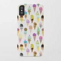 ice cream iPhone & iPod Cases featuring Ice cream  by maria carluccio