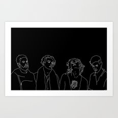 MATTY // ROSS // GEORGE // ADAM Art Print