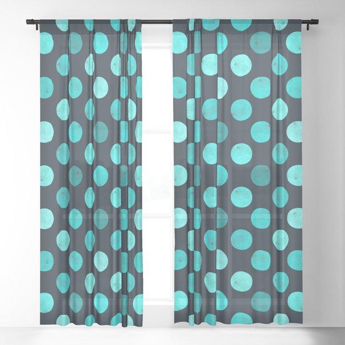 Watercolor Dots Pattern IV Sheer Curtain