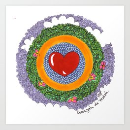 Corazon de Melon Art Print
