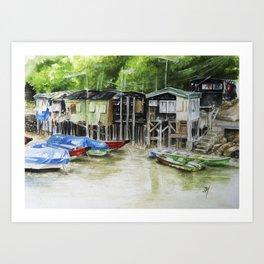 Fishermans Village Art Print