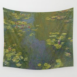 Claude Monet - Water Lily Pond 1919 Wall Tapestry