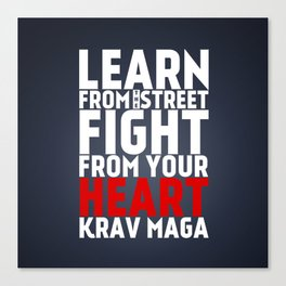 Learn from the Street Krav Maga Canvas Print