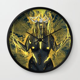 Pouring in gold. Wall Clock