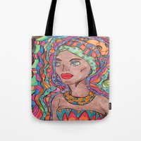 african Tote Bags featuring African by havana