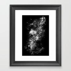 I'll wait for you black white version Framed Art Print
