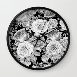ROSES ON DARK BACKGROUND Wall Clock