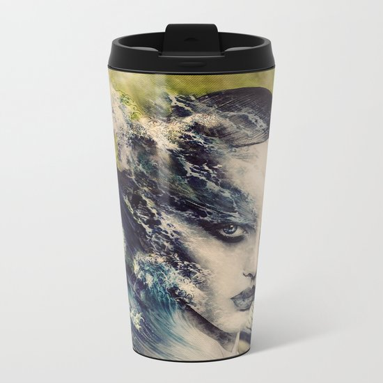 THE STORY OF A LACING WAVE Metal Travel Mug
