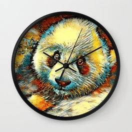 AnimalArt_Panda_20170601_by_JAMColorsSpecial Wall Clock