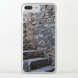 Medieval Wall Staircase Clear iPhone Case