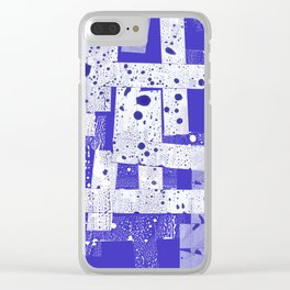 Abstract in blue Clear iPhone Case
