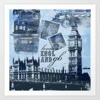Anglophile Love Art Print