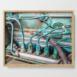 FoMoCo Generator Motor - Teal Industrial Art Photo Serving Tray