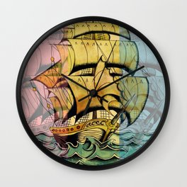 Adventure Begins Wall Clock