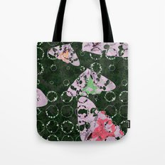 Flowers and Moths Tote Bag
