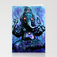 ganesh Stationery Cards featuring ganesh by Juan Pablo Fertitta
