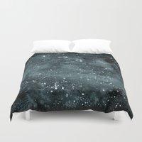 night sky Duvet Covers featuring Night Sky by Zeryndipity