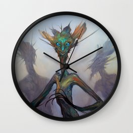 Twisted Wisp Eaters Wall Clock