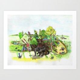 Witchington Gardens Art Print