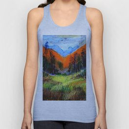 Mountain Meadow Landscape Unisex Tank Top