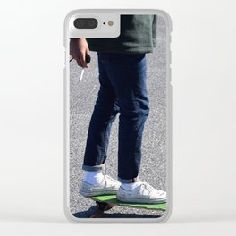 Cigs and Skate Clear iPhone Case