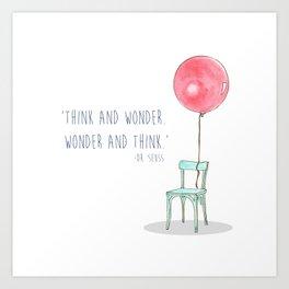 Think and Wonder Art Print