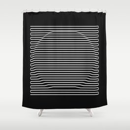 Circle over black Shower Curtain